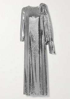 BERNADETTE Richard Draped Sequined Jersey Gown