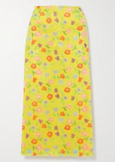 BERNADETTE Roxanne Sequined Tulle Midi Skirt