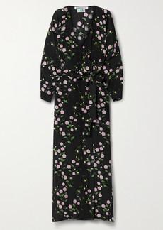 BERNADETTE Stella Floral-print Silk Crepe De Chine Wrap Maxi Dress