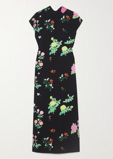 BERNADETTE Valentine Floral-print Crepe Midi Dress