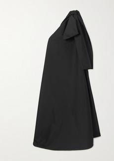 BERNADETTE Winnie Oversized One-shoulder Bow-embellished Taffeta Maxi Dress