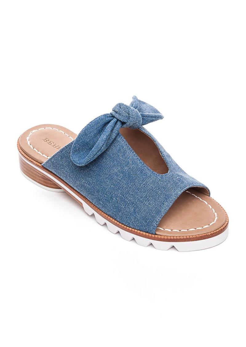Bernardo Alice Denim Bow Slide Sandals