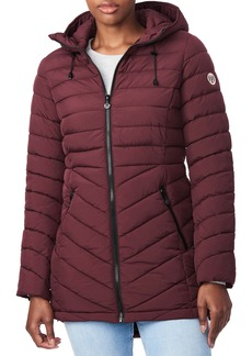 Bernardo Bernado Packable EcoPlume™ Hooded Walker Coat