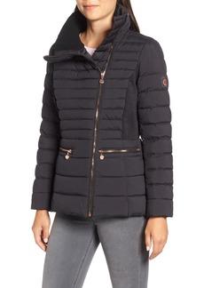 Bernardo Asymmetrical Water Resistant Quilted Jacket