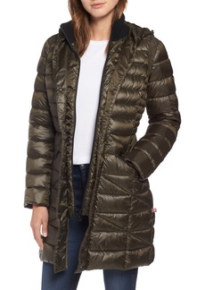 Bernardo Bib Hooded Walker Coat (Regular & Petite)