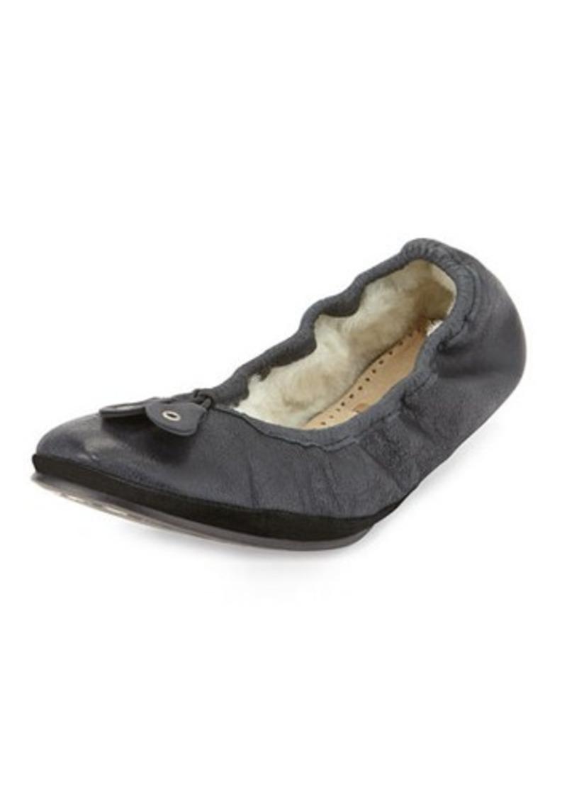 Bernardo Blizzard Leather Ballerina Flat