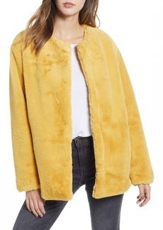 Bernardo Borg Faux Fur Jacket