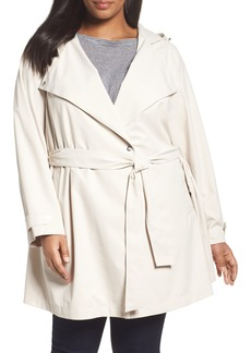 Bernardo Breathable Microfiber Trench Coat (Plus Size)