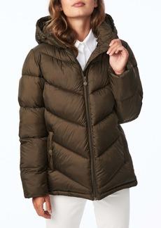 Bernardo Chevron Quilted Water Resistant Puffer Coat