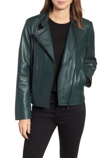 Bernardo Clean Leather Jacket (Regular & Petite)