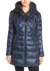 Bernardo Down & PrimaLoft® Coat with Hooded Vest Insert (Regular & Petite)