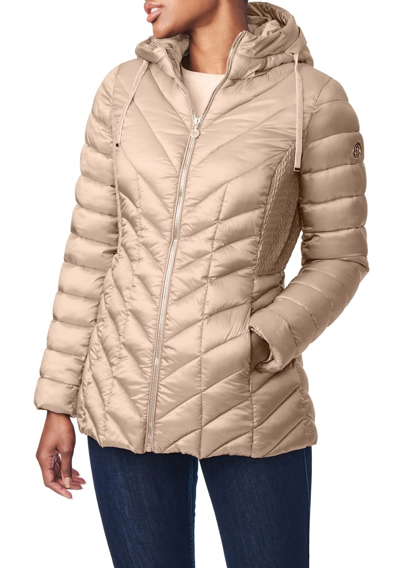 Bernardo Ecoplume™ Hooded Packable Puffer Jacket