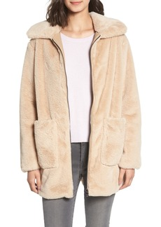Bernardo Faux Fur Coat