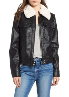 Bernardo Faux Leather Jacket
