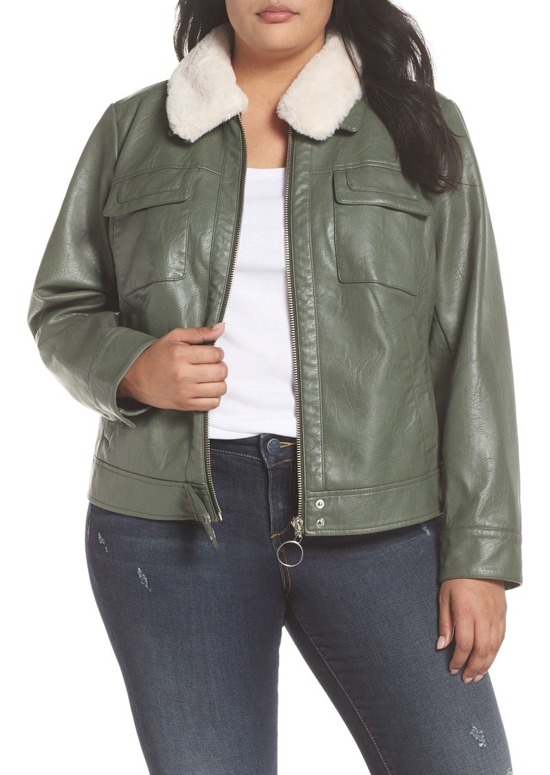 9527df5ab6c6c Bernardo Bernardo Faux Leather Jacket (Plus Size)