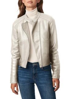 Bernardo Faux Leather Racer Jacket