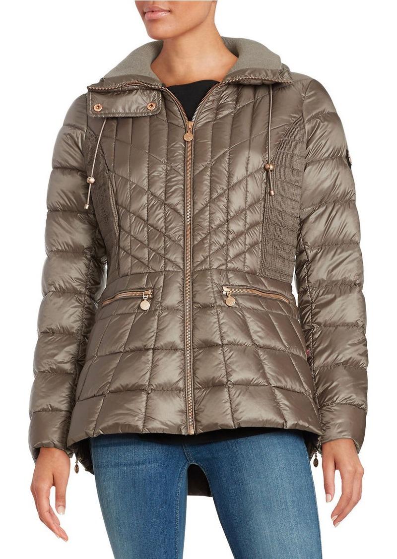 BERNARDO Fitted Puffer Coat