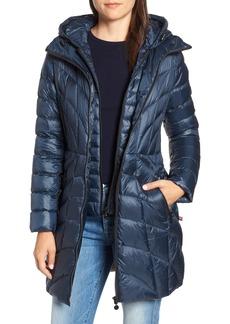 Bernardo Glossy Quilted Walker Coat (Regular & Petite)