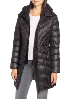 Bernardo Glossy Quilted Walker Coat (Regular & Petite)