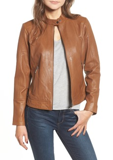 Bernardo Kirwin Leather Moto Jacket (Regular & Petite)