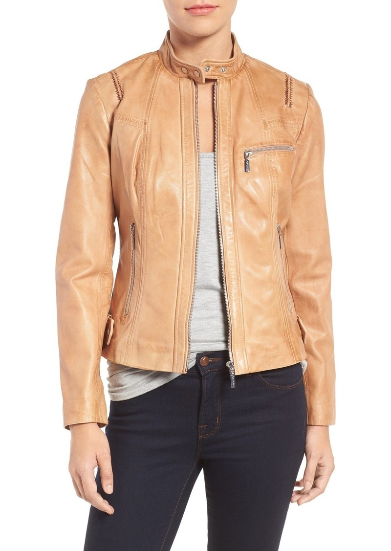 a0ba9af455f7e On Sale today! Bernardo Bernardo Kirwin Leather Moto Jacket