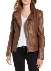 Bernardo Leather Moto Jacket
