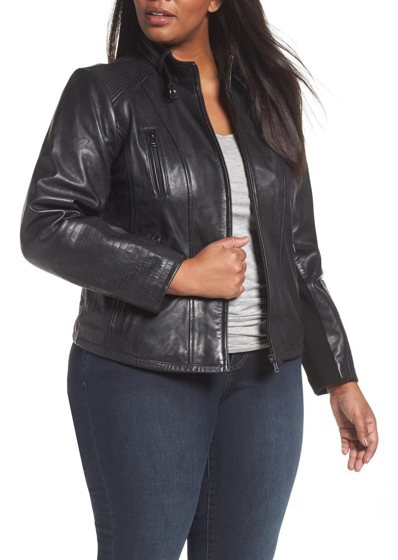 477b9480269 Bernardo Bernardo Leather Moto Jacket (Plus Size)