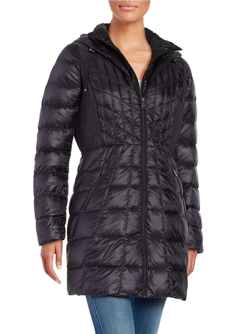 BERNARDO Long Packable Down Coat