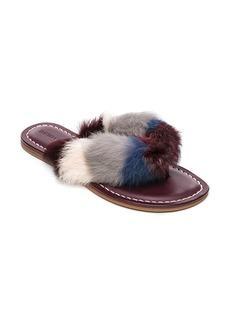 Bernardo Mara Genuine Rabbit Fur Flip Flop (Women)