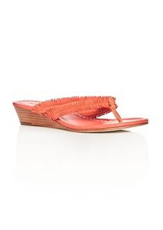 Bernardo Miami Fringe Wedge Sandals