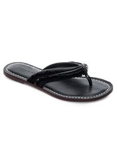 Bernardo Miami Suede Fringe Thong Sandals