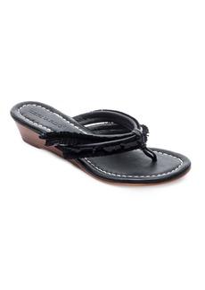 Bernardo Miami Suede Fringe Wedge Heel Sandals