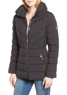 Bernardo Microtouch Pillow Down & Feather Fill Jacket (Regular & Petite)