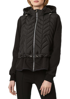 Bernardo Mix Media Hooded Jacket