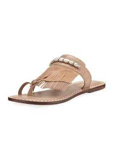 Bernardo Mona Low Fringe Flat Sandal