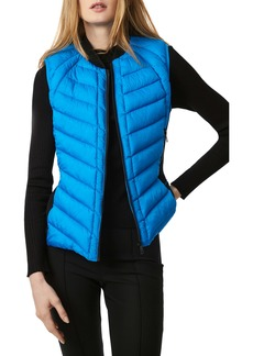 Bernardo Neoprene Trim Channel Quilted Vest