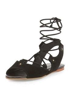 Bernardo Olivia Suede Lace-Up Gladiator Sandal