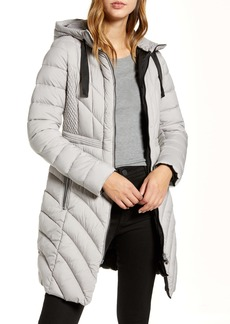 Bernardo Packable Hooded Walker Coat (Regular & Petite)