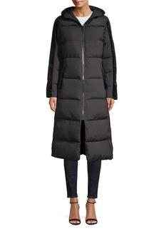 Bernardo Primaloft Velvet-Trimmed Puffer Coat