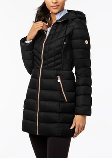Bernardo Quilted Hooded Puffer Coat