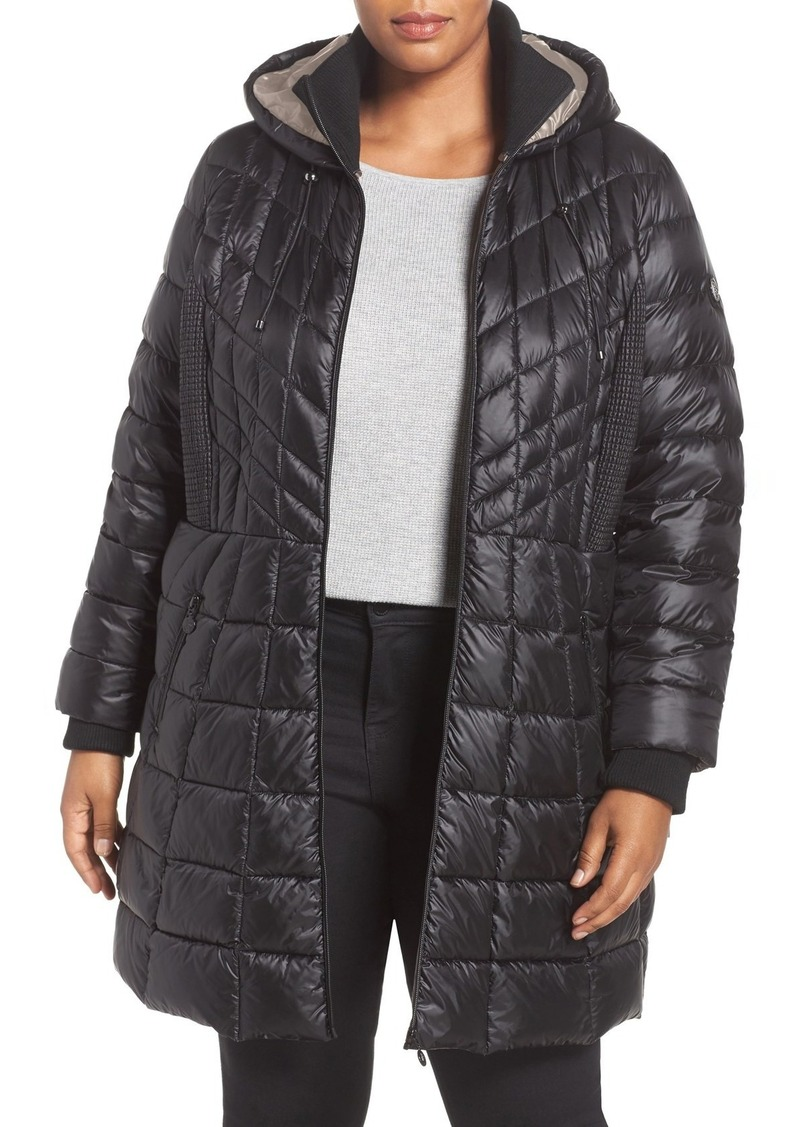 Bernardo Bernardo Quilted Jacket With Down Primaloft Fill Plus Size Outerwear