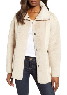 Bernardo Reversible Faux Shearling Coat