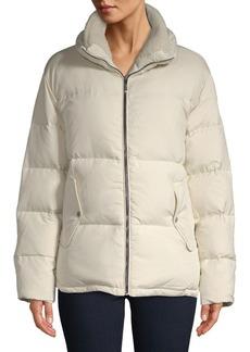 Bernardo Sherpa-Trimmed Puffer Jacket