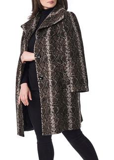 Bernardo Snakeskin Print Coat (Plus Size)