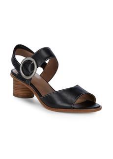Bernardo Stacked Heel Leather Sandals