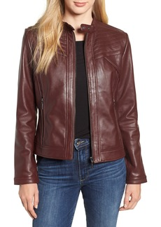 Bernardo Stitched Leather Jacket