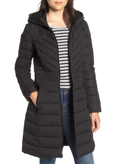 Bernardo Stretch Quilted Walker Coat (Regular & Petite)