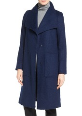 Bernardo Textured Long Coat (Regular & Petite)
