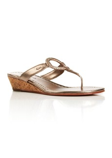 Bernardo Thong Wedge Sandals - Matrix