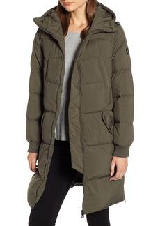 Bernardo Velvet Trim Puffer Coat